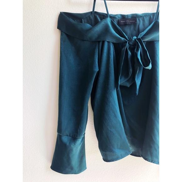 Nordstrom Tops - Green off the shoulder elegant blouse